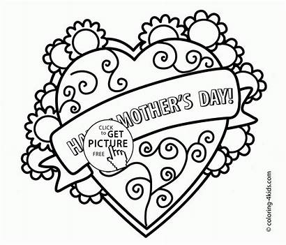 Mothers Coloring Pages Printable Mother Mom Colouring