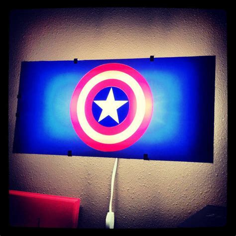 captain america avengers night light from otrengraving