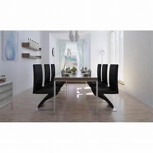 Lot De 6 Chaises Pas Cher : lot de 6 chaises noir achat vente chaise salle a manger pas cher couleur et ~ Teatrodelosmanantiales.com Idées de Décoration