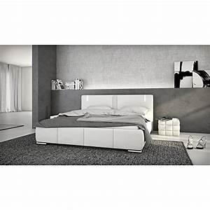 Sofa Mit Lautsprecher : innocent polsterbett aus kunstleder wei 180x200cm mit led und lautsprecher ricci mit matratze 1 ~ Indierocktalk.com Haus und Dekorationen