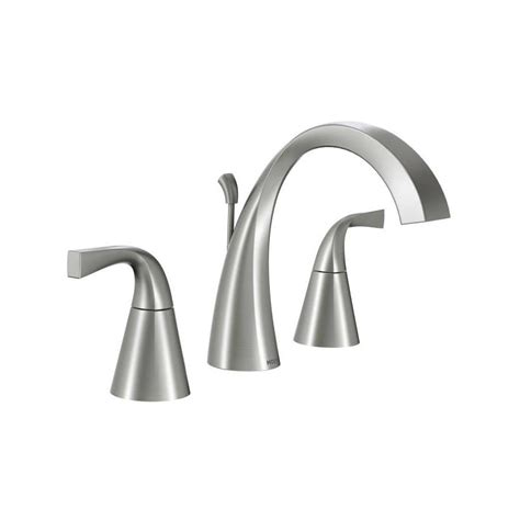 moen ca84440 double handle widespread bathroom faucet from