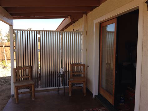 diy corrugated privacy screen and wind backyard