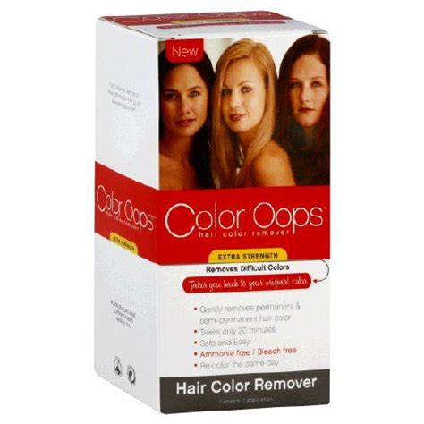 extra strength hair color remover color oops reviews  makeupalley