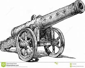 Medieval cannon stock vector. Illustration of heavy, view ...