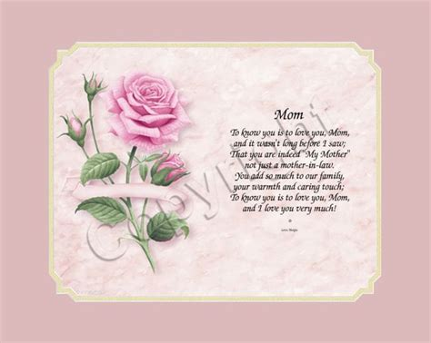 mother  law poems mothers day gifts  dream