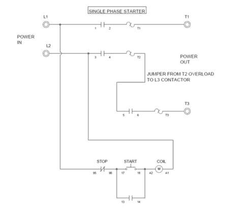Wiring Single Phase Motor Through Contactor