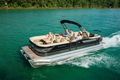 Crest Boats by 2017 Crest Pontoon Boats Classic Manitou Michigan