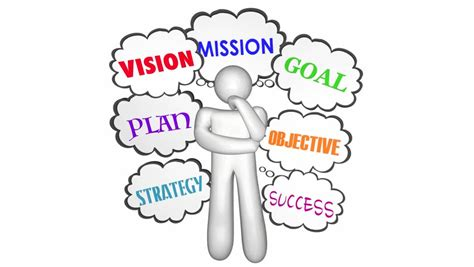 vision goal mission thinker thought stock footage video