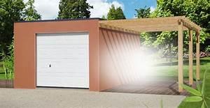 garage et construction modulaire beton et beton aspect bois With garage en parpaing de 20m2