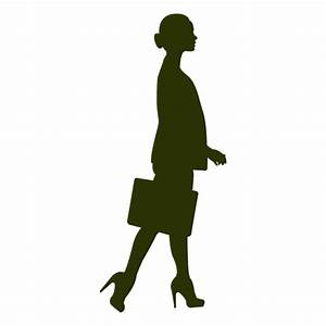 Businesswoman walking silhouette 4 - Transparent PNG & SVG ...