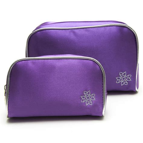 purple cosmetic bag set cosmetic bags outerbeauty