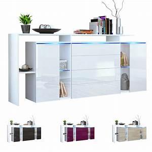 Tv Sideboard Weiß : sideboard tv board anrichte kommode lissabon v2 wei in hochglanz naturt nen ebay ~ Markanthonyermac.com Haus und Dekorationen
