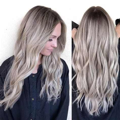 pics of beautiful hair styles beige with a shadowed root 8514