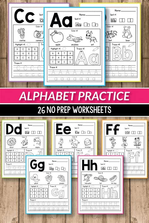 alphabet worksheets primary  alphabet printable activities  preschool  kindergarten
