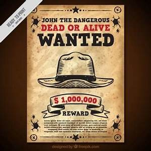 100+ [ Wanted Dead Or Alive Poster Template Free ] Wild