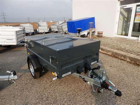 anhänger mit deckel anh 228 nger 850 kg gebremst mit deckel neu neu