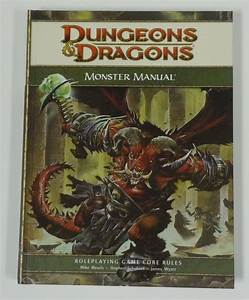 D U0026d 4th Edition Monster Manual 1 New Roleplaying D20 One