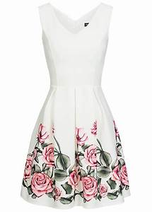 Malerwalzen Mit Muster : styleboom fashion damen mini kleid blumen muster weiss 77onlineshop ~ Sanjose-hotels-ca.com Haus und Dekorationen