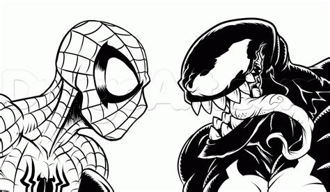 draw spider man  venom step  step marvel