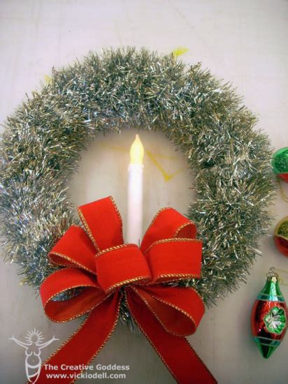 can you still buy xmas tensil vintage inspired tinsel wreath for decorations