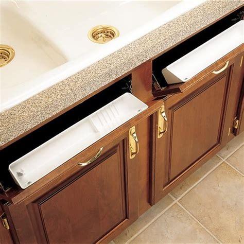 kitchen storage trays rev a shelf standard accessory sink trays with hinges 3192