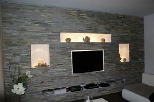 Steinoptik Wand Selber Machen : wohnzimmerwand selbst gestalten ~ A.2002-acura-tl-radio.info Haus und Dekorationen