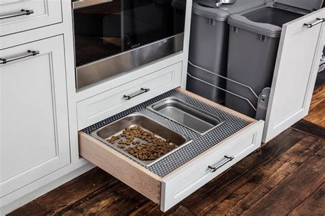 Pet Food Cabinet With Bowls by Woof Food Bowls And Biscuit Tray Contemporary Kitchen