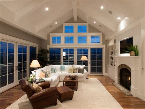 recessed lighting for vaulted ceilings family room corner