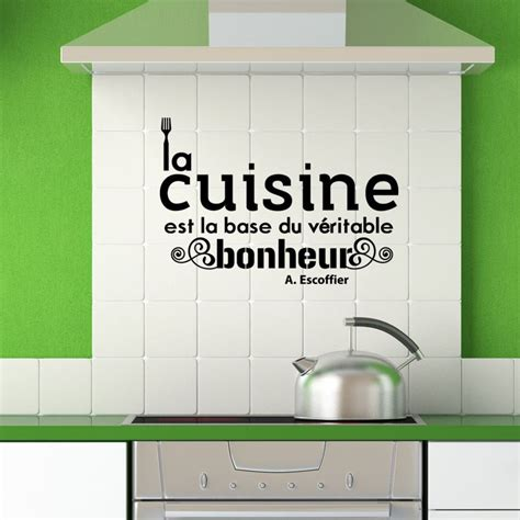 citation cuisine sticker citation cuisine de a escoffier pas cher