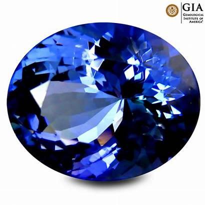 Tanzanite Gia Violet Certified Aaa Gemstone Bluish