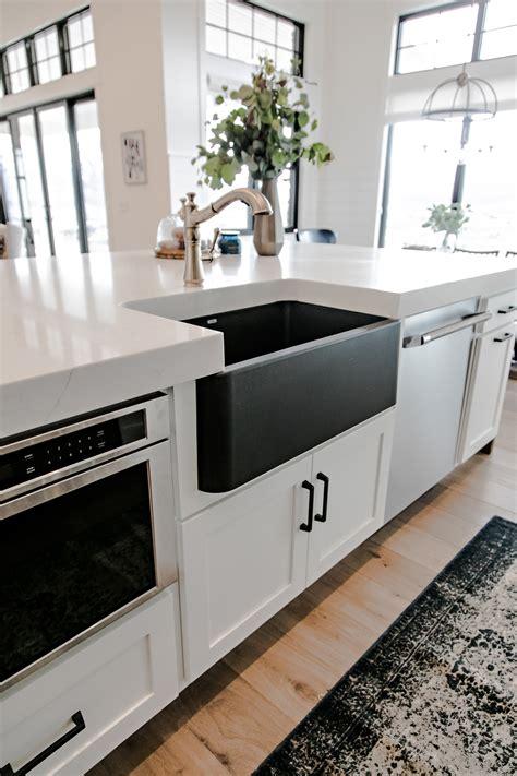 black farm sinks for kitchens smi modern farmhouse kitchen and dining nook sita 7871