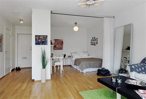 wohnideen kleine schlafzimmer bedroom and living room together in all in one room apartment layout design in stockholm home