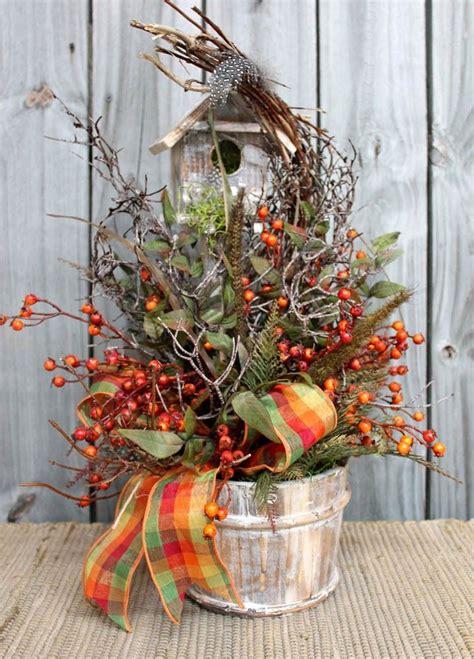 birdhouse floral arrangements home primitive country