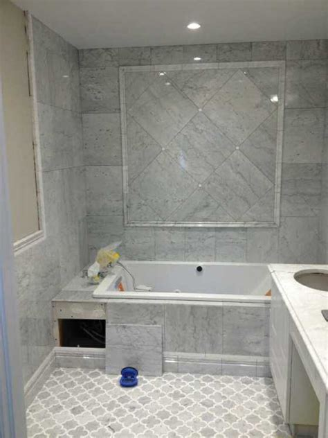 carrara marble tile bathroom edmonton tile install white marble bathroom river city