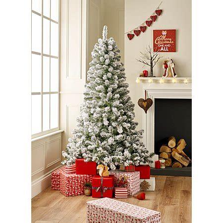 real christmas trees asda 6ft snowy tree trees asda direct