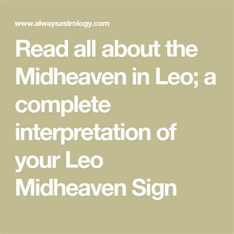 read    midheaven  leo  complete