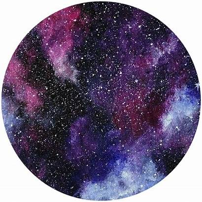 Galaxy Watercolor Space Clipart Circle Samsung Background