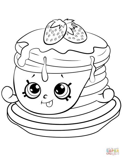 Kleurplaten Shopkin by Ultra Strawberry Pancake Shopkin Coloring Page Free