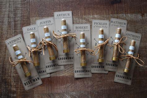 DIY Cigar Groomsmen Proposals Groomsmen invitation