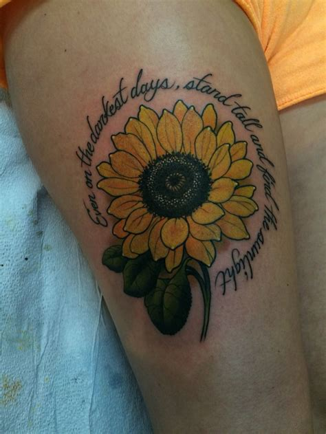 sunflower tattoo ink tattoos sunflower tattoos