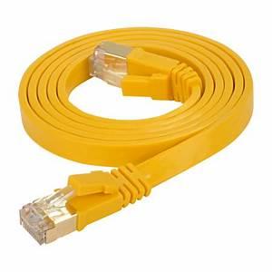 Lan Kabel Stecker : cat 7 flachkabel u ftp lan kabel rj45 stecker gelb 7 5 m ~ Orissabook.com Haus und Dekorationen