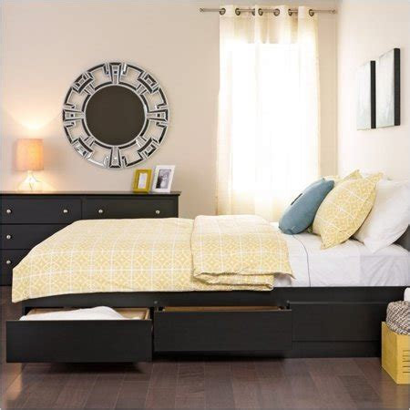 pemberly row queen platform storage bed  drawers