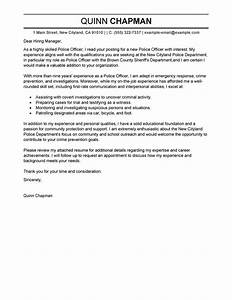 best police officer cover letter examples livecareer With cover letter for police department