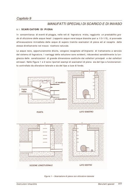 idrologia dispense manufatti speciali di scarico e di invaso dispense