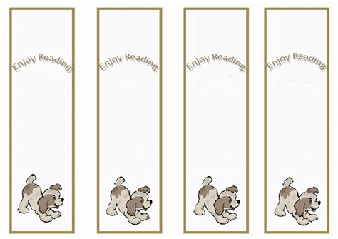 dog lovers bookmarks birthday printable