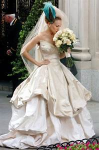 vivienne westwood39s lily dress magically slims down stars With sarah jessica parker wedding dress