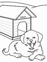 Dog Kennel Coloring Drawing Printable Getcolorings Getdrawings sketch template