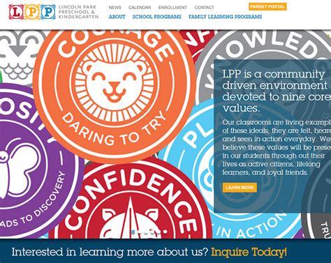 100 preschool amp kindergarten websites for design inspiration 344 | 001 lincoln park school