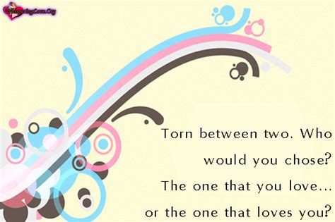 Torn Between Two Lovers Quotes