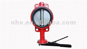 Manual Control Wafer Type Dn150 Butterfly Valve